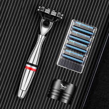 Mens Safety Razor Blades Face care Shaving blades Manual shaving Three Layer Blades Razor for Men Shaving Straight Razor