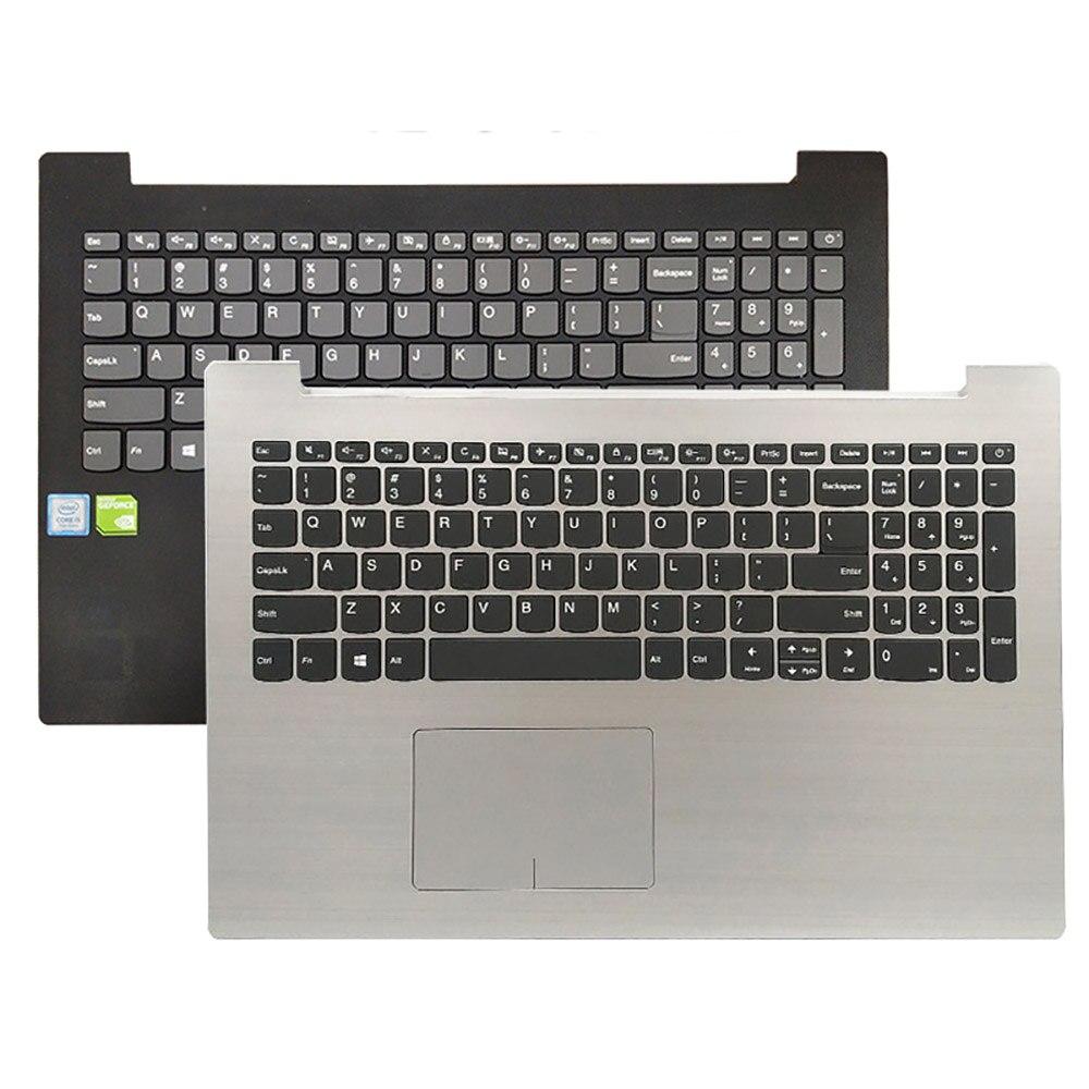 Сенсорная панель NEWPalmrest с подсветкой для LENOVO IdeaPad 330-15IKB 330-15 330-15IGM, серебристо-черный