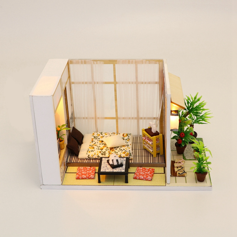 Miniature Fairy Wooden Desk+Chair+Umbrella Dollhouse  Home Ornament*FY