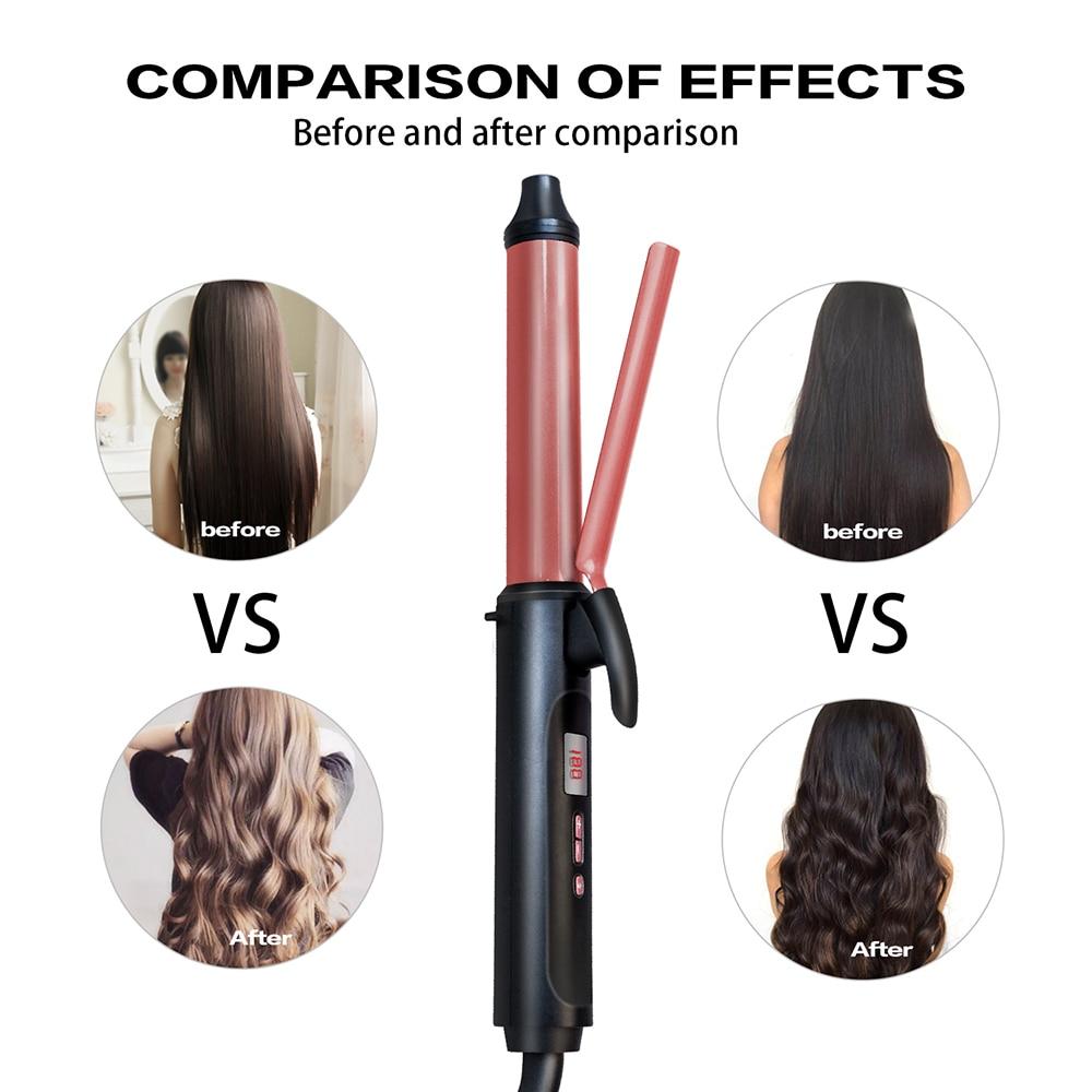 Dupla Voltagem Elétrica Anti-escaldante ferro modelador de cabelo