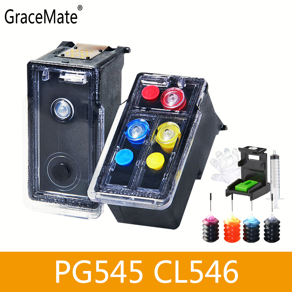 GraceMate Refillable 545 546 XL Ink Cartridge Replacement for Canon PG545 CL546 Pixma MG3050 2550 2450 2550S 2950 MX495