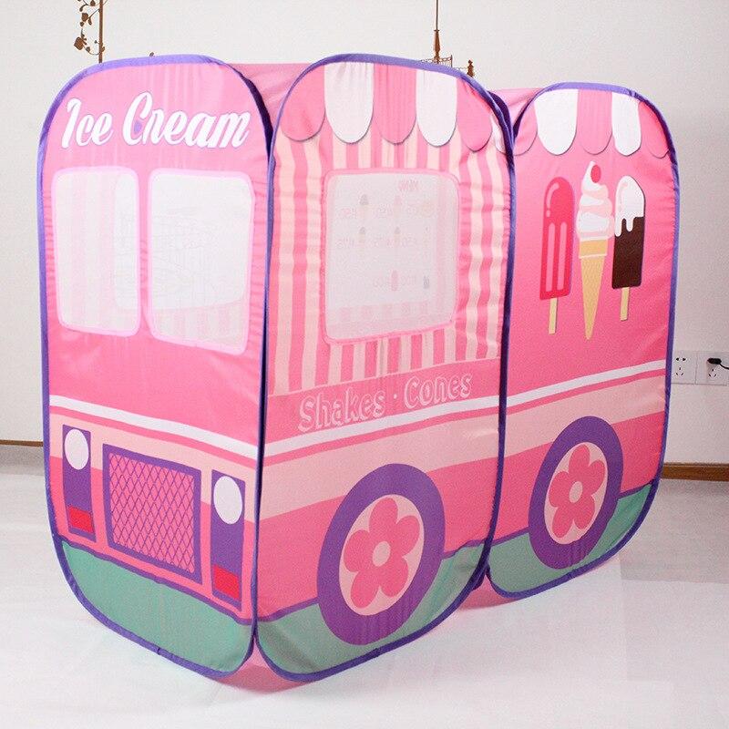 Enfants en plein air jouet jouer tente intérieur jouer maison enfants océan balle piscine Pit jeu jouer maison mignon voiture modèle jouer pliable