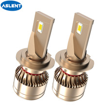 цена на ASLENT 3570 Chips Car Headlight LED H7 H4 Light Bulbs H1 H11 HB3 HB4 H8 H9 9005 9006 20000LM 12V 6500K Auto Lamp 60W led canbus
