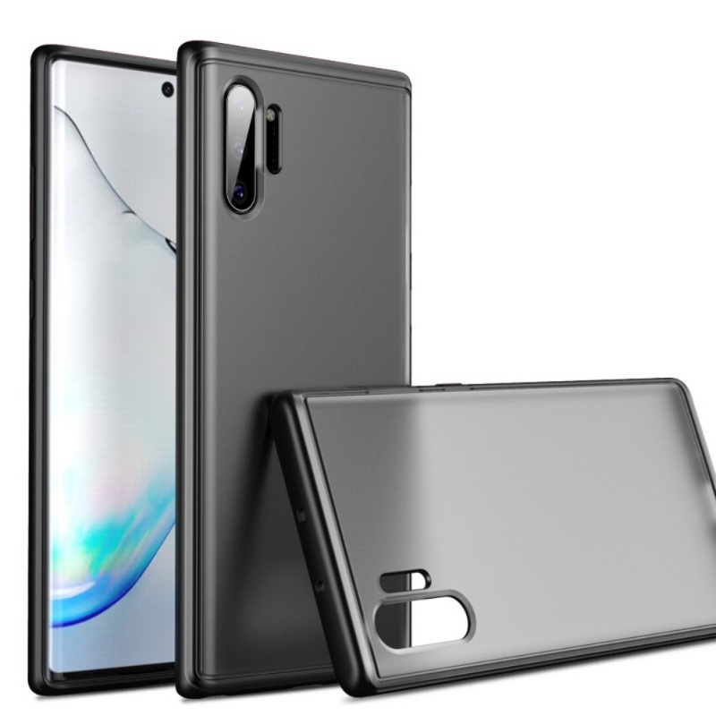Black Matte Phone Case Matte Semi-Transparent Anti-Knock Protector Cellphone Back Cover For Samsung Note 10/10 Plus/Note 10 Pro