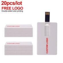 20ชิ้น/ล็อตฟรีโลโก้ที่กำหนดเองUsb Flash Usbแฟลชไดรฟ์4GBไดรฟ์ปากกา8GB 16GB memory Stick Uดิสก์32GB 64GB Pendrive