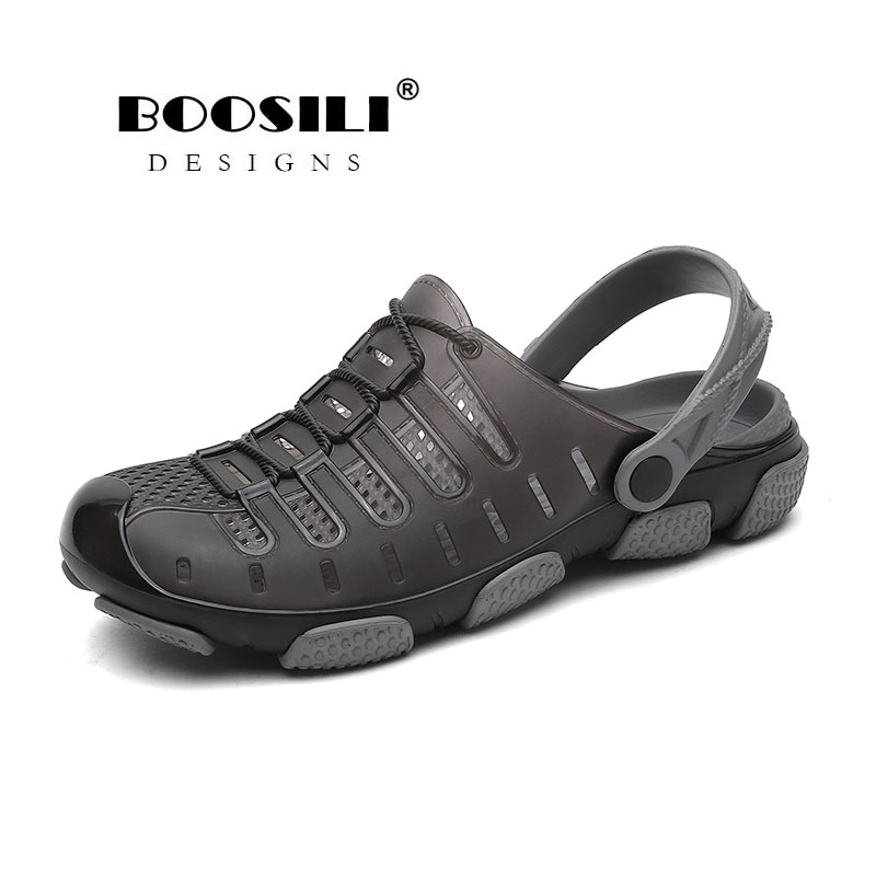 2020 Brand Duty-free Big Size 45 Lover Clogs 3 Colors Croc Shoes Men's Band Sandals Summer Beach Water Swimming Mens Clogs