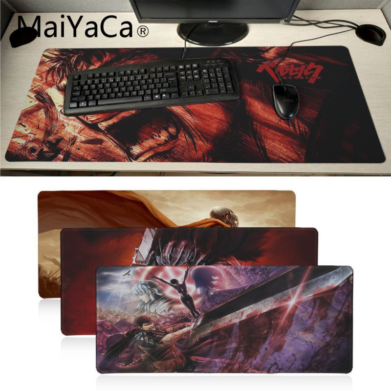 Berserk <font><b>anime</b></font> Unique Desktop Pad Game <font><b>Mousepad</b></font> gaming mouse pad <font><b>xl</b></font> Speed Keyboard Mouse mat Laptop PC notebook desk pad image
