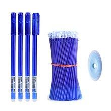 20 pçs/lote Escola Escritório Caneta Apagável Magia Set 0.5mm Lavável Alça Gel Papelaria Kawaii Canetas para Estudantes de Presente Azul Tinta Preta