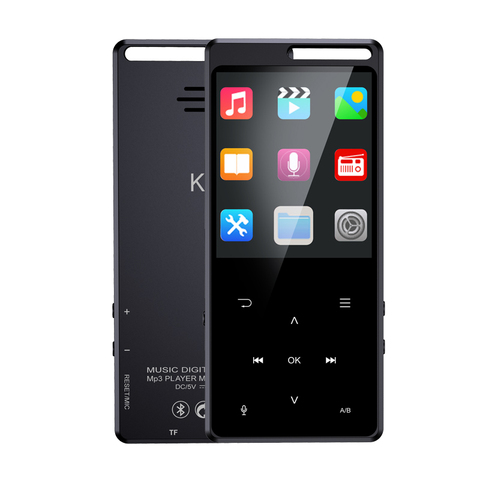 Leitor de Música Metal de Alta Polegada Tela Portátil Mp4 Bluetooth 5.0 Aptx tf fm E-book Otg mp 3 Fidelidade Lossless Running Carro Walkman 2.4 8 gb