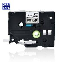Label Tze-M951 Ribbon Laminated-Label-Tape Cassette Cartridge Black P-Touch Silver Matt