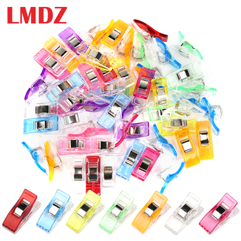 LMDZ 20/50 Pcs Sewing Clips Multicolor Plastic Fabric Clamps Patchwork Craft Clothing Holder Quilting Clip - discount item  30% OFF Arts,Crafts & Sewing