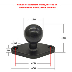 Image 5 - JINSERTA 1 Inch ( 25mm ) Ball Adapter w/ Diamond Plate Compatible for RAM Mounts for Garmin ZUMO Plate for Gopro Camera & Phone