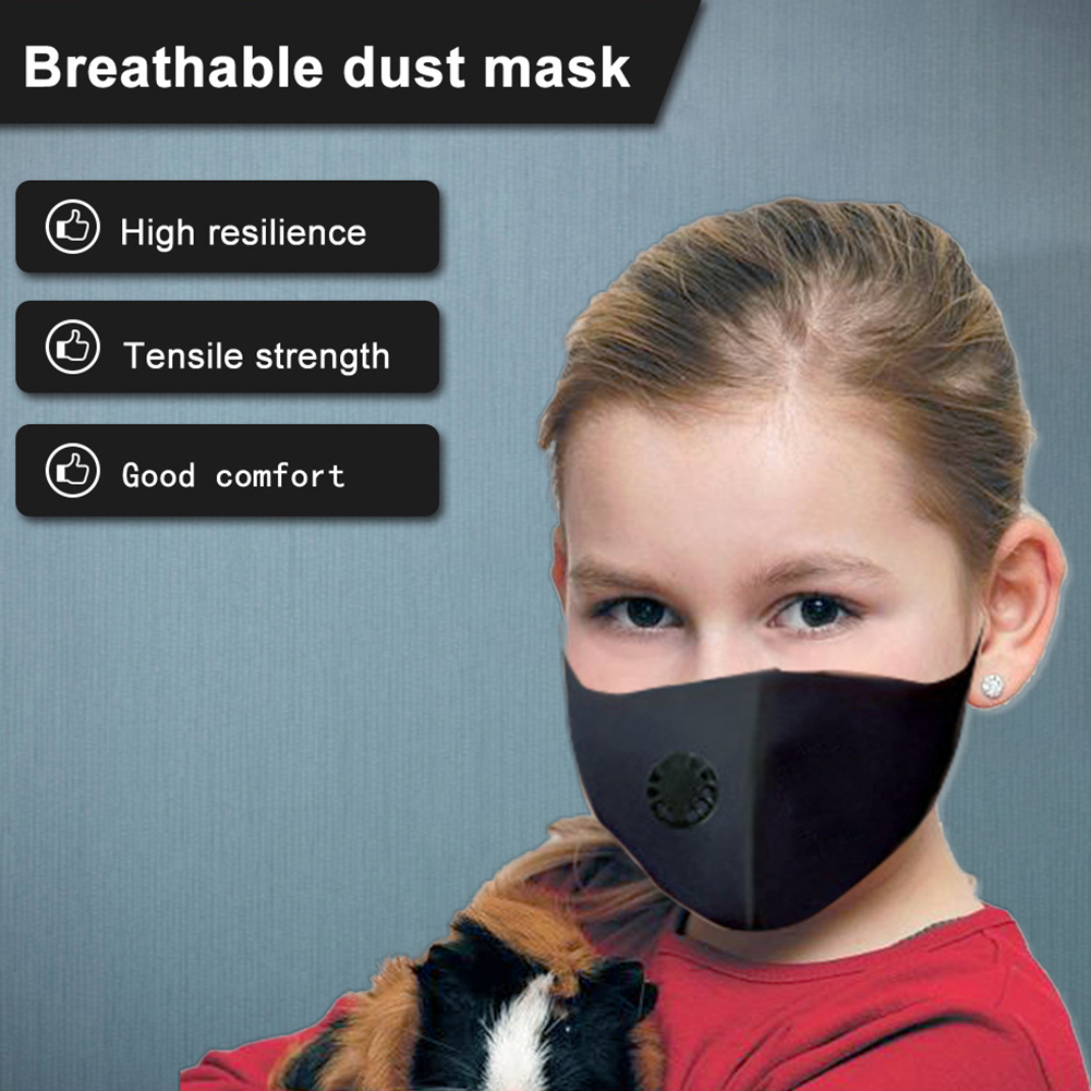 Adult Kids Mask Nano Breathable Face Mask With Breathing Valve Reusable Anti Dust Pollution Face Shield Wind Proof Mouth Cover