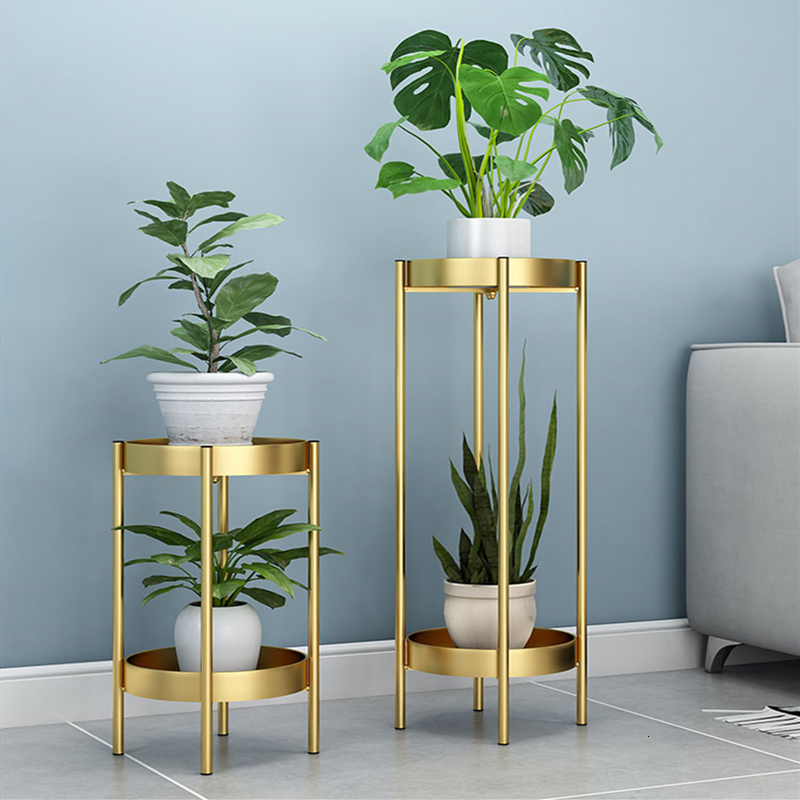 Rack Shelf Light Extravagant Balcony A Living Room Indoor Florist Double-deck Green Luo Chlorophytum To Ground Flowerpot Frame