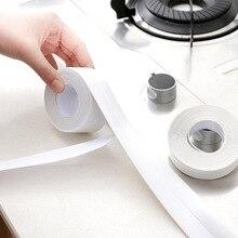1PC Kitchen Tape Corner Line Stickers Modern PVC Waterproof Moisture Mildew Window Wall Sticker Protection Bumper Strips