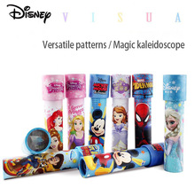 Disney Kaleidoscope Ice And Snow 2 Spider Man Princess Mickey Multi Prism Inspires Imagination Baby Puzzle Toy Children Gift