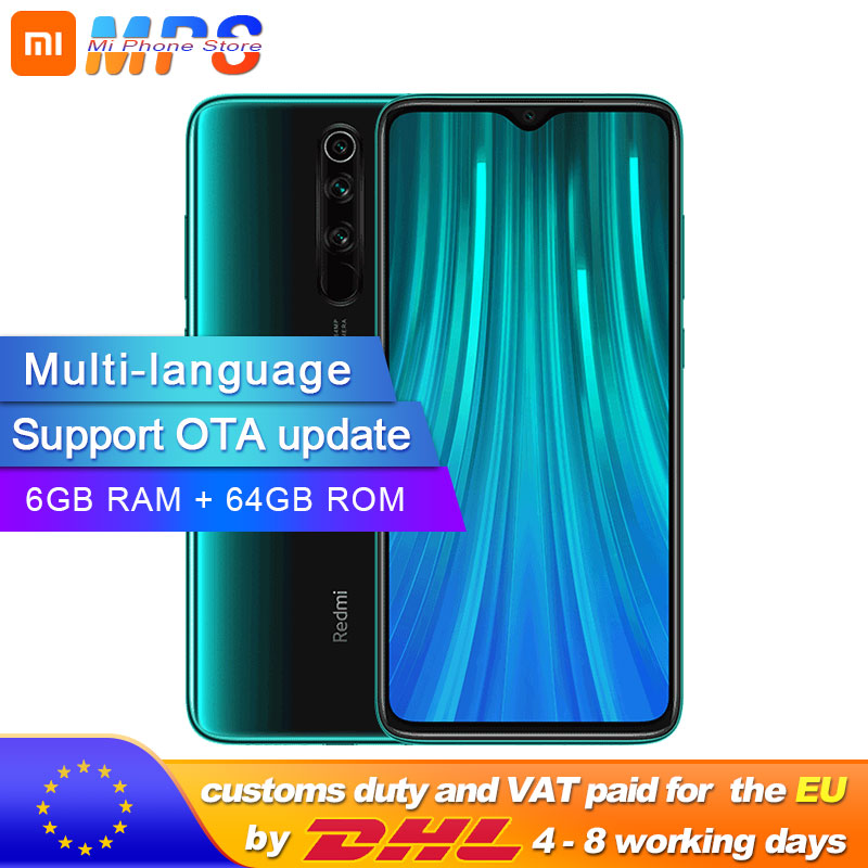 Global ROM Xiaomi Redmi Note 8 Pro 6GB 64GB Smartphone 64MP Quad Camera Helio G90T Octa Core 4500mAh NFC
