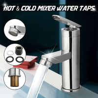 Wash Basin Faucet Two Hole Single Handle Hot&Cold Mixer Water Taps Bathroom Kitchen Wash Faucet