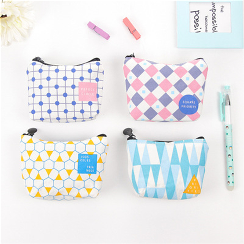 DL Korean Creative Simple Zero Purse Fresh Lovely Girl Student Coin Pocket Key Bag Exquisite Office Supplies Small Gift