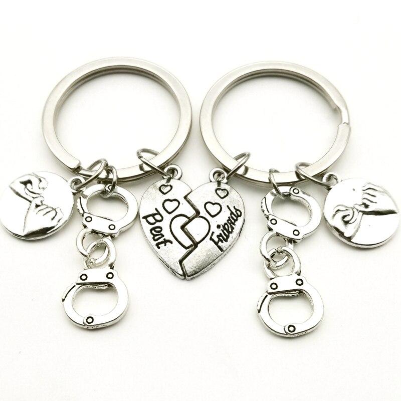 A Pair Of Best Friends Handcuffs Hook Hook Keychain Criminal Partner Friendship Combination Keychain