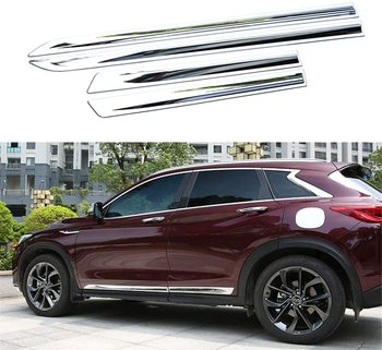 ABS Chrome Body Side Door Molding Trim Cover Stickers Protector for New Infiniti QX50 2019 2020 2021