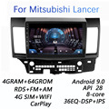 4 г + 64 г DSP 2 din Android 9,0 4G NET Car Radio мультимедийный видео плеер для Mitsubishi Lancer 2008-2016 WiFi BT carplay