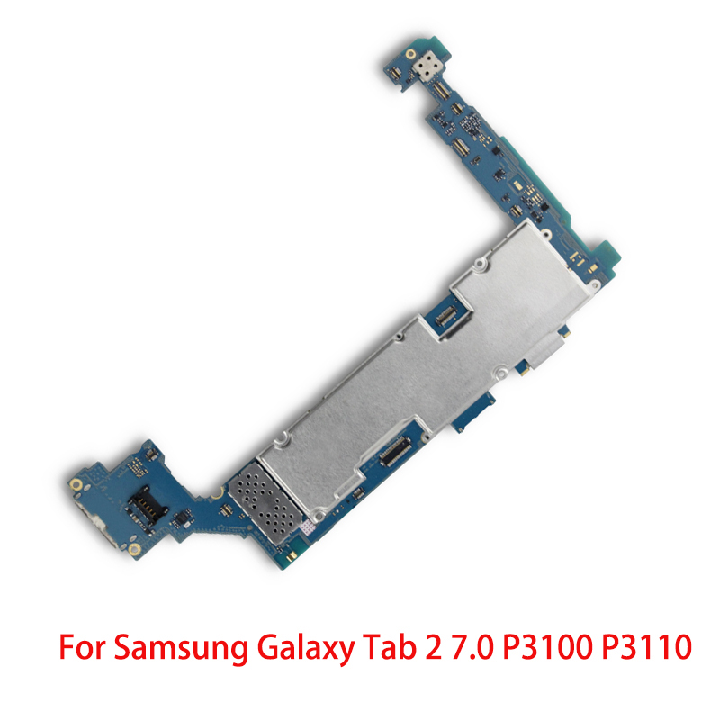 Good Working Original Working For <font><b>Samsung</b></font> Galaxy Tab 2 7.0 <font><b>P3100</b></font> P3110 <font><b>Motherboard</b></font> 3G&WIFI Unlocked Mainboard Circuits Cable image