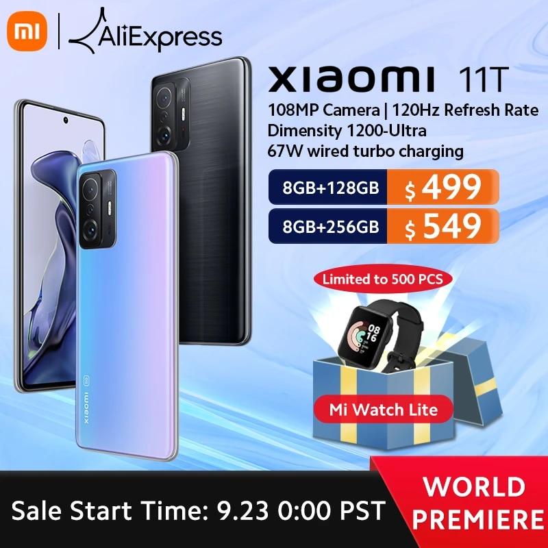 ?World Premiere?Global Version Xiaomi 11T Smartphone 128GB/256GB ROM Dimensity 1200-Ultra Octa Core 67W Charging 108MP Camera