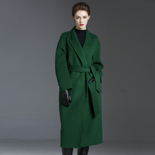 Woolen Coat Cashmere Winter Plus-Size Double-Sided Women's New Belt Long Loose Over-The-Knee