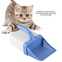 Pet Cat Litter Shovel Cats Litter Sifter Hollow Neater Scoop Dog Sand Cleaning 2 in 1 Puppy Toilet Tray Box Sand Scooper