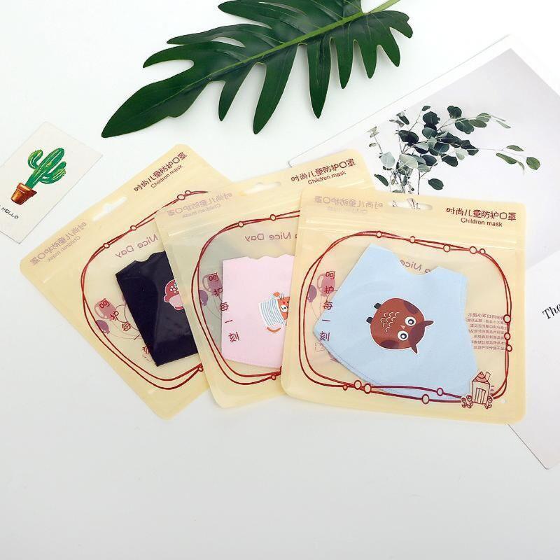 10Pcs PM2.5 Kid Reusable Anti Flu Face Mask Breathable Washable Sponge Dustproor Mouth Mask Random Pattern for Children 4