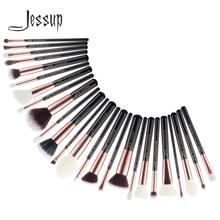 Jessup Beauty 25 sztuk zestaw pędzli do makijażu naturalne włosy maquiagem profesjonalne kompletne fundacja Eyeshadow Contour Highlighter T155
