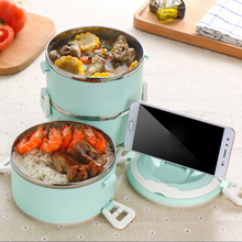 1PCS Stainless Steel Thermo Bento Lunch Boxs Japanese Food Box Insulated Thermal School Container High Quality
