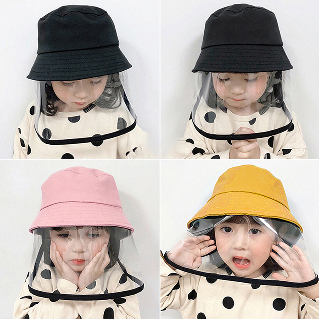 Fisherman Hat With Protective Clear Mask Dust-proof Sun Cap Plastic Anti-fog Saliva Hats Face Shields Hats