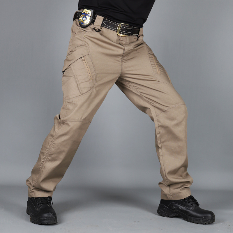 IX7 Tactical Trousers Outdoor Training Trousers 100% Cotton Elastic Fabric Military Tactical Cargo Pants Men  Army Trousers
