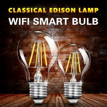 Bombilla LED E27 de 12W con WIFI para teléfono inteligente, lámpara Retro...