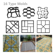DIY Garden Walk Pavement Mold Plastic Stone Road Path Maker Manually Paving