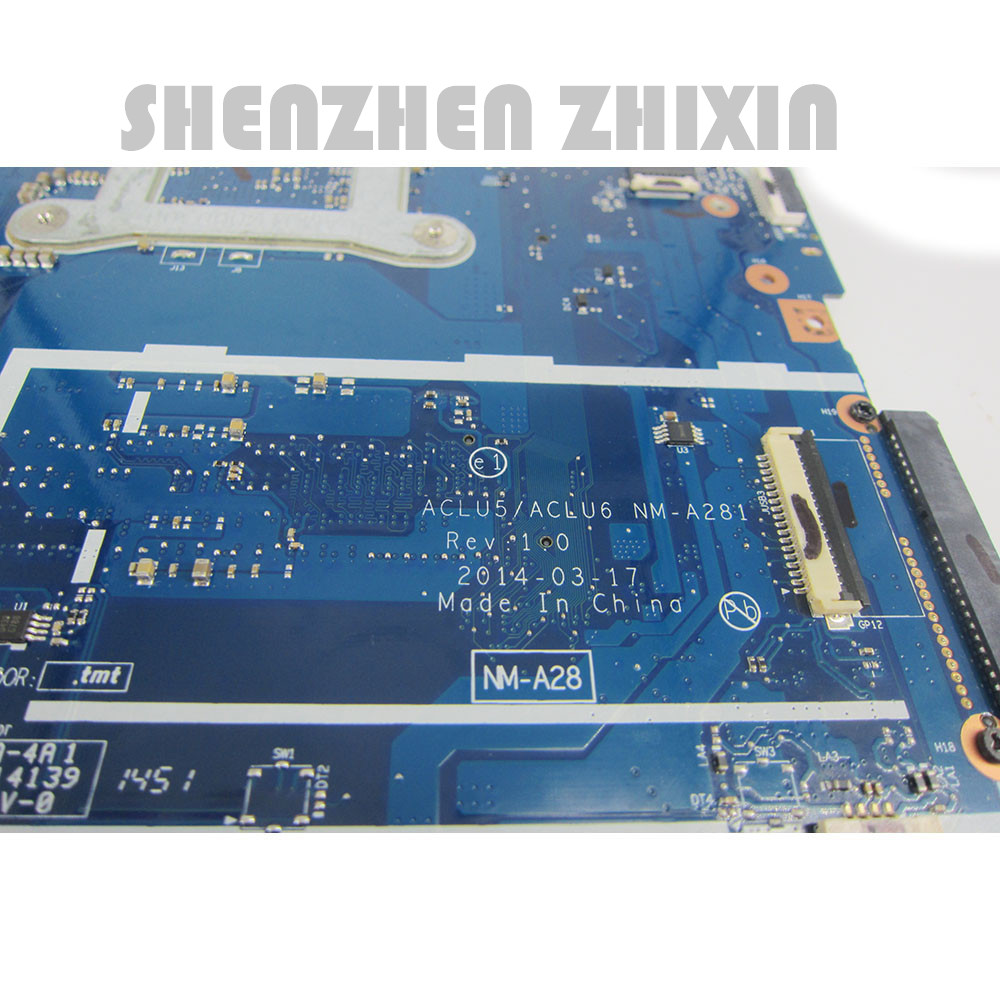 For Lenovo G50-45 Laptop Motherboard A8-6410 CPU ACLU5/ACLU6 NM-A281 5B20G38065 Mainboard 3