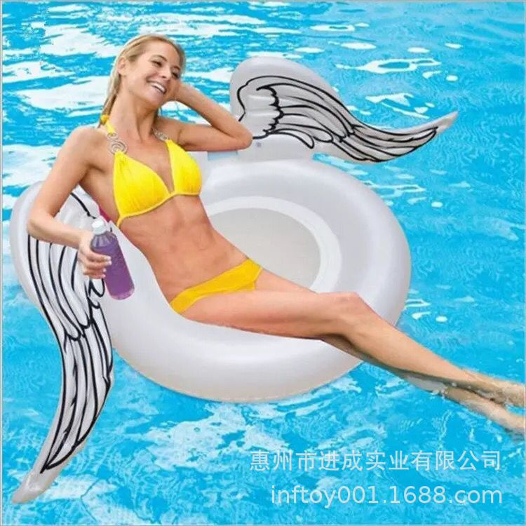 Inflatable Angel Wings Swimming Tube Pedestal Ring Manufacturers A Large Amount Production PVC Inflatable Adult Overwater Floati