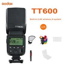 Godox TT600 2.4G HSS אלחוטי GN60 מאסטר/עבדים מצלמה פלאש Speedlite טריגר עבור Canon Nikon Sony Pentax אולימפוס פוג י Lumix