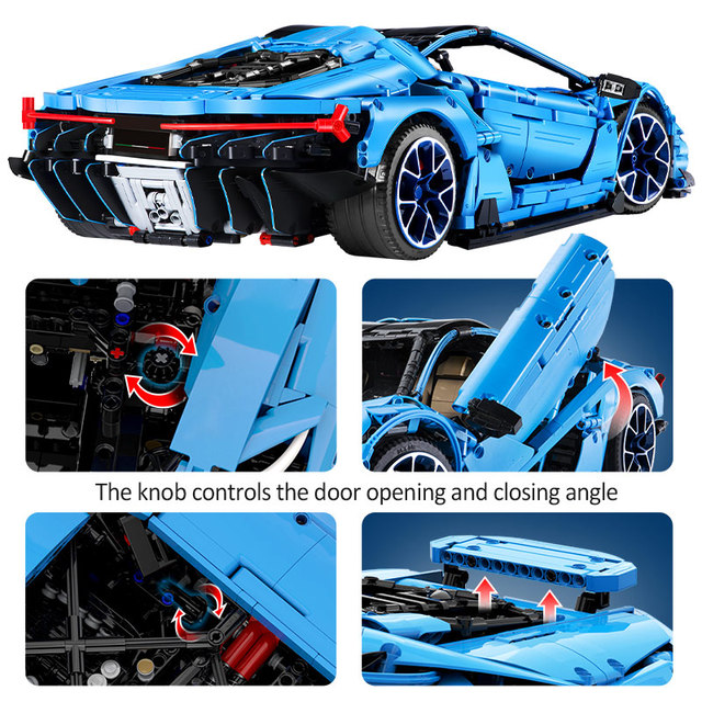 3842PCS Creator Speed Mad Cow Sports Vehicle Building Blocks City MOC Technic Racing Car Model Bricks Collect Toys for Children