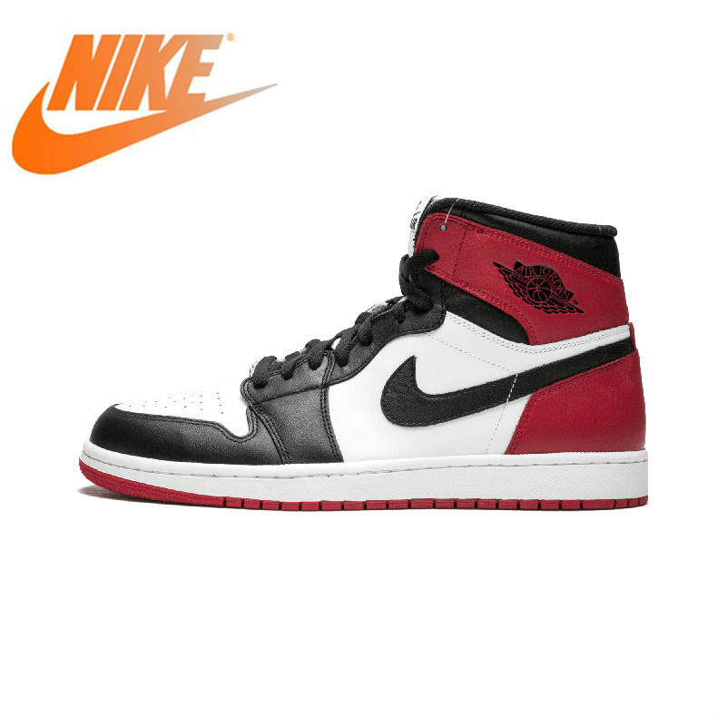 Authentic Original Nike <font><b>Air</b></font> <font><b>Jordan</b></font> <font><b>1</b></font> <font><b>OG</b></font> <font><b>Retro</b></font> Royal AJ1 Men's Basketball Shoes Sneakers Sports Comfortable Breathable 555088-184 image