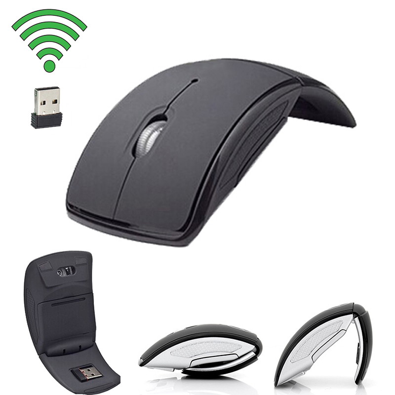 Wireless Mouse 2.4G Computer Mouse Foldable Folding Optical Mice USB Receiver For Laptop PC Computer Desktop Office Wireless