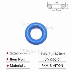 Image 2 - Freies verschiffen 200 stück gute qualität 7.8*3,71mm farbige kraftstoff inejector o ring dichtungen reparatur teile für Chevrolet (AY O2017)