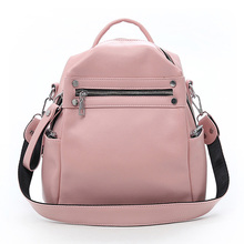 цена на Fashion Mini Backpack for Women Pu Leather Bag Soft Touch Multi-Function Small Backpack Female Ladies Shoulder Bag Girl Purse