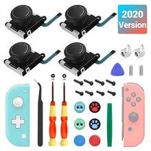 4x Analoge Joysticks Vervanging Reparatie Kits Voor Nintend Schakelaar/Schakelaar Lite 3D Gaming Controllers Thumb Grip Cap Game Accessoires