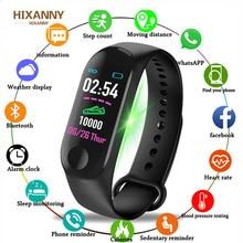 M3 Plus Smart Bracelet Heart Rate Blood Pressure Health Waterproof Watch Pro Bluetooth Wristband Fitness Tracker