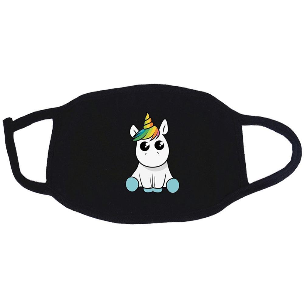 Lovely Unicorn Pattern Mask Men Women Unisex Fabric Cotton Recycle Masks