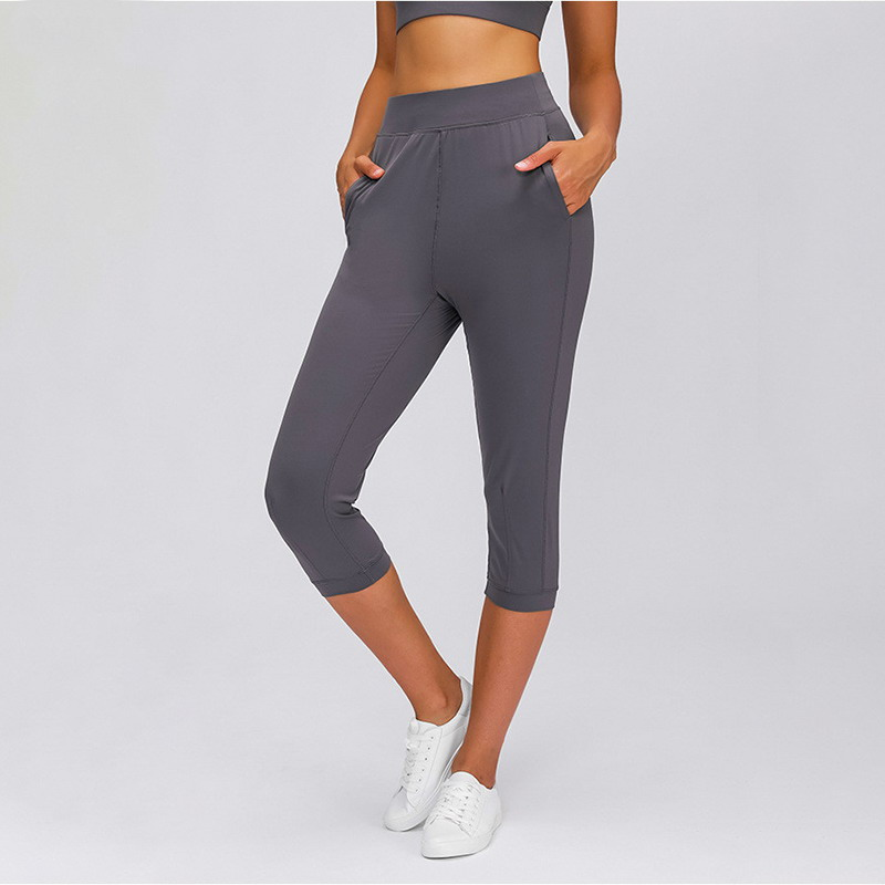 COZY Leisure&Home Sport Fitness Yoga Leggings Capri Joggers Women High Waist Stretchy Workout Gym Cropped Pants with Pocket
