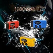 1000mAh Solar Radio Emergency Radio AM/FM/WB Weather Radio Hand Crank Radio With 3 LED Flashlight 1000 mAh As a Phone Power Bank kobramax radio